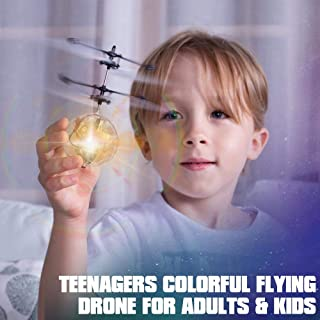PALA PERRA RC Flying Ball, Kids Toys Flying Toys Hand Controlled Drone with Built-in Shining LED Lighting Boys & Girls