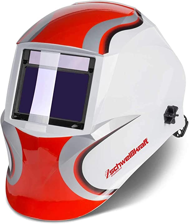 schweißkraft casco per saldatura xxl w (oscurante automatico, livello di protezione din 9 fino a 13) varioprotect 1654010 04036351223955