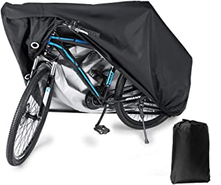 BLOODYRIPPA Waterproof Bike Cover with Lock Holes for Outdoor Bicycle Storage, 210T Polyester Taffeta Fabric, PU Coating, ...