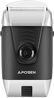 アポセン 電気シェーバー 髭剃り ひげそりAPOSEN T12往復式 剃毛用カミソリ付き USB充電 リチウム電池内蔵 800mAh 往復式 大容量旅行用 多機能 男女兼用