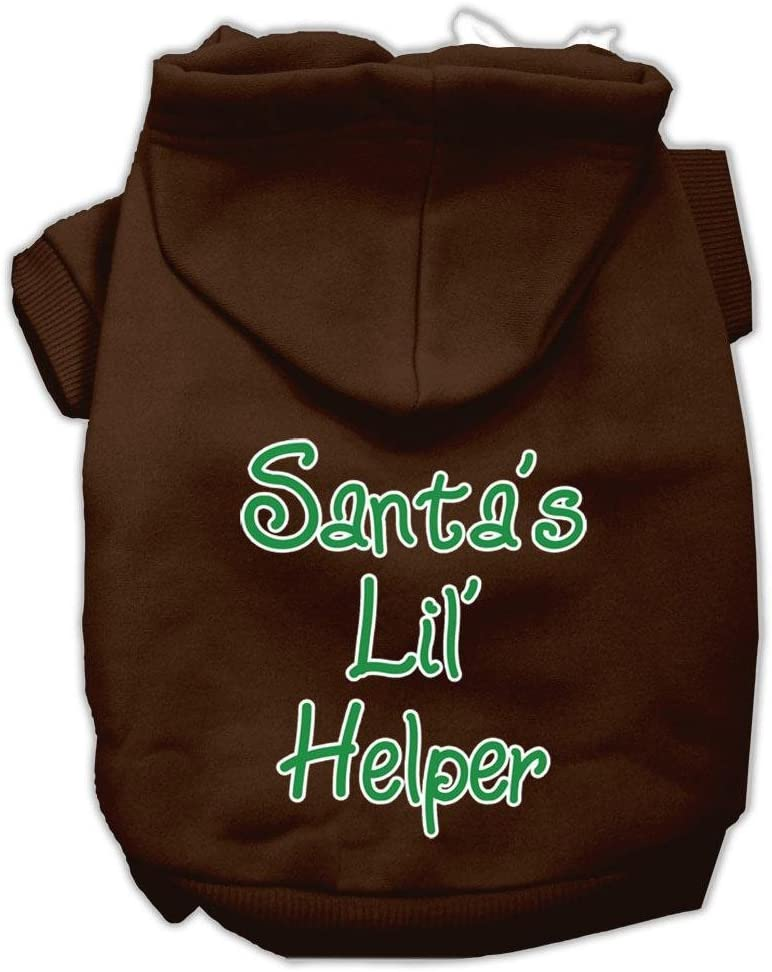 Popular popular Mirage Popular overseas Pet Products Santa's Lil' Helper Hoodies Print Screen