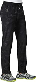 TBMPOY Men's Lightweight Hiking Pants Breathable Mountain Camping Fishing Running Active Jogger Pant