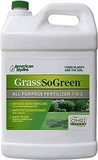Grass So Green 7-0-2 Organic Fertilizer, 1 Gallon