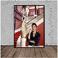 ポスタープリントアートキャンバス絵画アルパチーノスカーフェイスセット絵画壁の写真リビングルームの家の装飾-50x70cmフレームなし