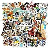 Avatar The Last Airbender Aufkleber Cartoon Laptop Aufkleber Vinyl Aufkleber Computer Auto Skateboard Motorrad Fahrrad Gepäck Gitarre Bike Aufkleber 50 Stück (Avatar The Last Airbende)