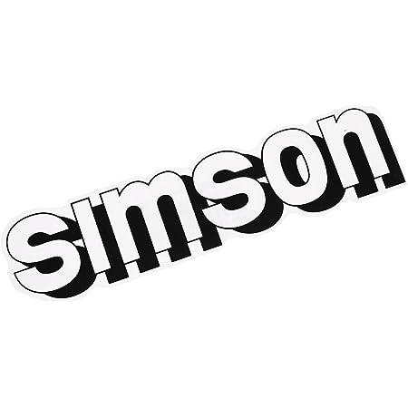 Mza Klebeschrift Simson Für Tank In Weiß Auto