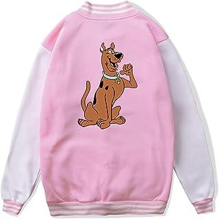 VJJ AIDEAR Scooby Doo Baseball Uniform Jacket Sport Coat Kids Long Sleeve Hoodie Hooded Sweatshirt Black