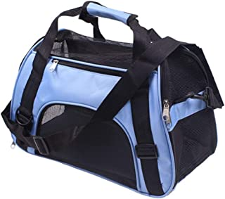 Soft Sided Pet Carrier Airline Approved, Collapsible Cat Carrier Medium Cats, Light Weight Dog Travel Bag, Dog Carrier for...