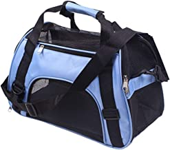 Soft Sided Pet Carrier Airline Approved, Collapsible Cat Carrier Medium Cats, Light Weight Dog Travel Bag, Dog Carrier for Small Dog, Portable Foldable Puppy Bag (Color : Blue, Size : M)