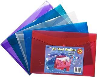 4 x A4 Slim Rigido Forte Trasparente Tuff Immagazzinamento Documenti Carta Archiviazione Scatola Fascicolo