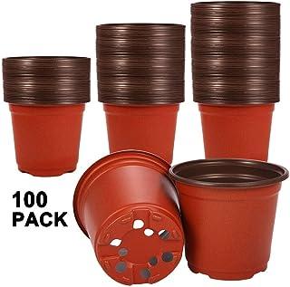Akarden - Macetas de plástico para guardería, 100 unidades