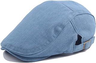 Travel Cap Beret Cap Wool Ladies Washed Denim Men's Outdoor Sun Hat Accessories (Color : Light blue, Size : 56-58cm)