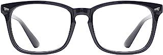 TIJN Blue Light Blocking Glasses for Women Men Clear Frame Square Nerd Eyeglasses Anti Blue Ray Computer Screen Glasses (B...