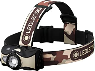 Ledlenser - MH8 Lightweight Rechargeable Headlamp with Removable Headstrap, High Power LED, 600 Lumens, Red/Green/Blue Fun...