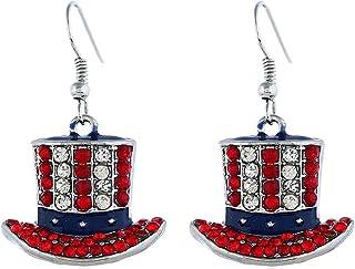 Amosfun 6 paires boucles doreilles no/ël bijoux ensemble vacances gants bas pendants boucles doreilles no/ël bijoux cadeau
