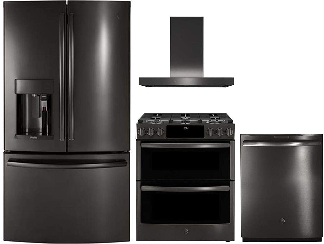 GE Profile 4 Piece Kitchen Package with PFE28PBLTS 36