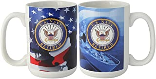 U.S. Navy Retired military coffee mug 15 oz.