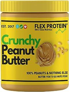 Flex Protein Natural Peanut Butter Crunch (Vegan - Non-GMO - Gluten Free, Unsweetened) (1 Kg)