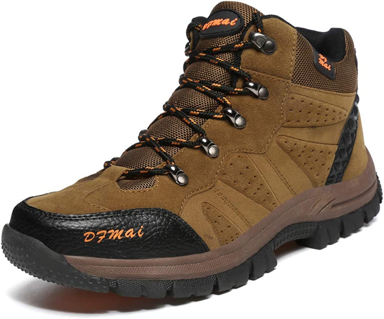 ZHRUI Men Outdoor Hiking Boots Trekking Climbing Mountain Sneakers Men Anti-Skid Wearable Walking shoes (color   Brown, Size   12UK=48 EU)