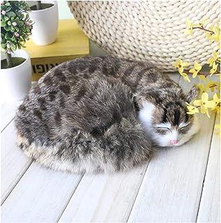 FHUILI Simulation Cat Animal Model - Realistic Simulation Plush Kitten - Lifelike Sleeping Cat Figurine Toy - Stuffed Kitt...