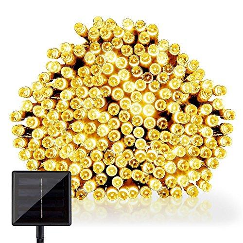 GDEALER LED Solar Lichterkette Weihnachten Decoration 22m 200 LED 2 Modes Wasserdicht für Outdoor Party, Haus Dekoration, Hochzeit, Weihnachten, Feier Festakt (Warmweiß) [Energieklasse A++]