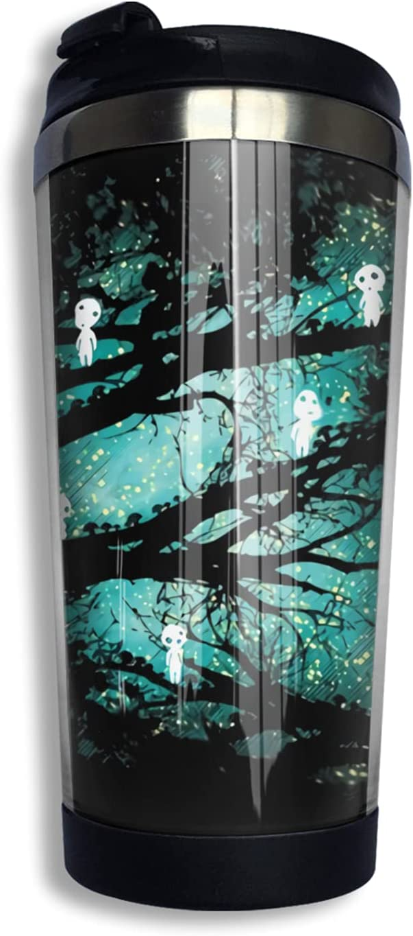 Direct sale of manufacturer Princess Mononoke Retro Anime High material Coffee Cup Print Thermos 3d Mug No