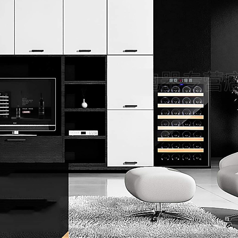 MKKM Frigorífico para autos - 28 Bottlesthermoelectric Wine Cooler - Enfriador de vinos tintos y blancoos - Mostrador de vinos en encimera - Refrigerador independiente con pantalla LCD y controles tác