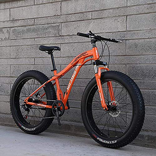 XHJZ Mens Fat Tire Bicicleta de montaña, 26 Pulgadas de Nieve para Adultos Bici, bicis de Doble Freno de Disco Crucero, Playa de Bicicletas, Ruedas Anchas 4.0