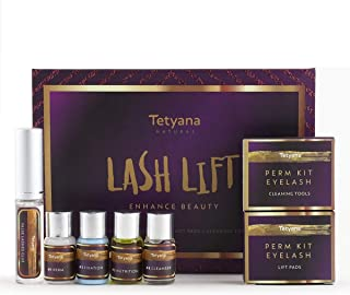 Tetyana naturals Eyelash Perm Kit, Professional Quality Lash Lift, Semi-Permanent Curling Perming Wave, Lotion & Liquid Set