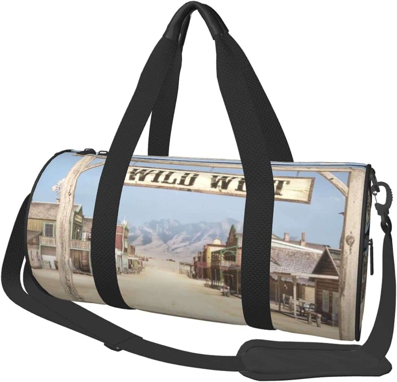 Limited price American Western Town Kids It is very popular Duffle Overnighter Reindeer Bag Horn