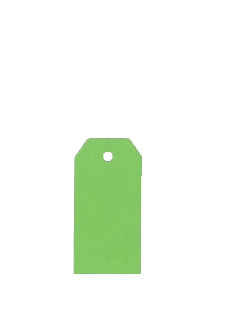 USA-Made Gift Tags Without String Available in Sizes and 7 Colors (Lime, 4) by K-Kraft