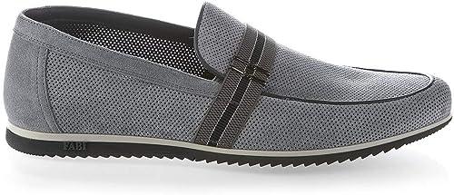 Fabi 6704 bleu Suede Italian Italian Designer Hommes chaussures  économiser 50% -75% de réduction