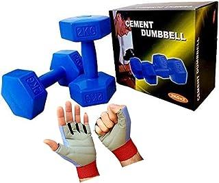 Exercise Dumbbell set 2 KG x 2 with FREE sport gloves