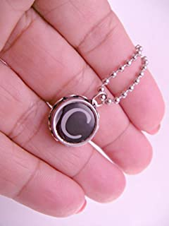 Vintage Typewriter Key Pendant Necklace You Choose Letter with 18 Inch Ball chain