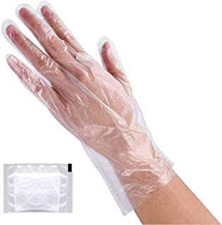 Plastic Gloves Disposable, Lebonheurs 200 Pcs Plastic Hand Gloves for Kitchen Cooking Cleaning Safety Food Handling Large ...