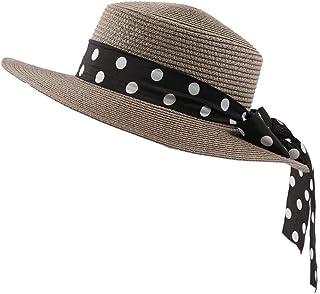 Accessoires Hirolan Chapeau Panama Classique et Loisir pour Vacance en Plage Pliable Chapeau de Paille Beachwear UV Protection Dété Capeline Voyage Mariage Cocktail Plage pour Femmes Dames