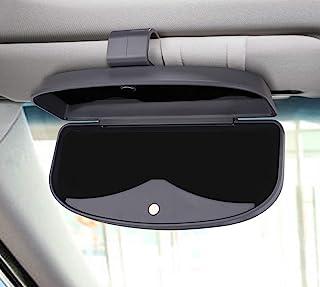 MOSISO Car Visor Sunglasses Case, Universal Automotive ABS Eyeglasses Holder Protective Box Clip Eyewear Hard Shell Storag...