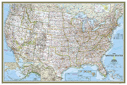 United States Classic, Poster Size, Tubed: Wall Maps U.S. (National Geographic Reference Map)