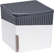 WENKO Luchtontvochtiger Cube, luchtontvochtiger vermindert schimmel en geuren, opvangbak met 500 g granulaatblok navulbaa...