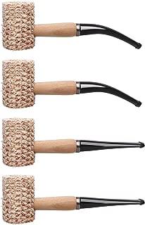 Free Boy Corncob Pipe Gift Set, Handmade Wooden Corn Cob Pipe for Smoking (4pcs)