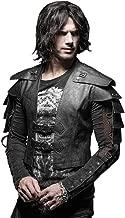 Steampunk Gótico Cool Armor Warrior - Chamarra de Piel para Hombre