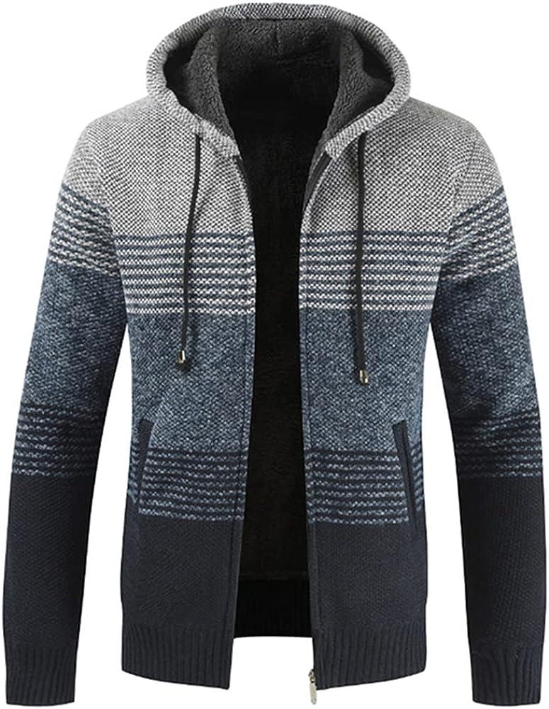 NP Sweater Coat Men Winter Thick Hooded Men Wool Liner Zipper Coats Men