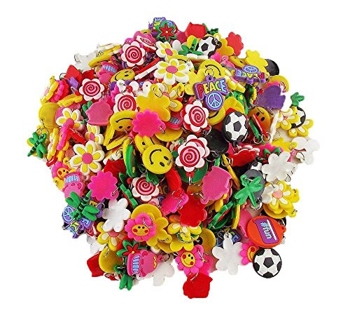 Wadoy - 40 Pack of Charms For Rubberband Loom Bracelets