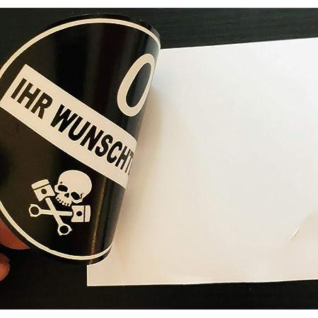 Generic Feinstaubplakette Schwarz Umweltplakette Mit Wunschtext Kfz Kennzeichen Aufkleber Sticker Folie Für Scheiben Innenverklebung Wie Eine Handelsübliche Plakette Auto