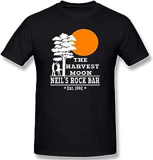 Men Harvest Moon Neil Young Casual T Shirt Black L