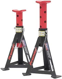 Sealey AS3R Achse (Paar) 3 Tonnen Tragkraft pro Ständer, Rot