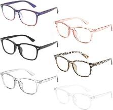 MIGSIR 6 Pack Blue Light Blocking Glasses for Computer Gaming, Fashion Fake Anti Eye Strain Eyeglasses for Women Men