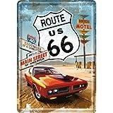 PLAQUE METAL US ROUTE 66 - MAIN STREET - 10x14 cm - FRAIS OFFERT