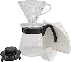 Hario Kahve Filtresi Tutucu, Şeffaf ve Siyah, 2 Fincan
