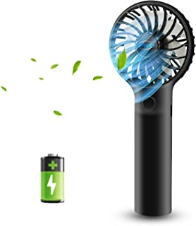 efluky 3 Speeds Mini Handheld Fan, Small Personal Portable Table Fan with USB Rechargeable 2500mAh Battery Operated Coolin...